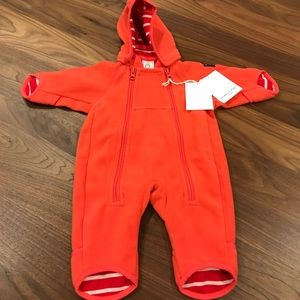 Polarn O Pyret Red Outdoor Playsuit size newborn
